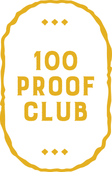100 Proof Club pin for the membership year